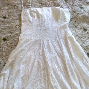 American Living White Eyelet Dress